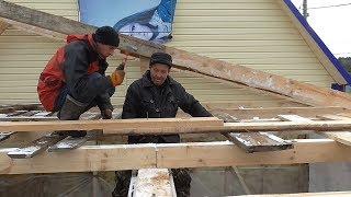 Односкатная крыша СВОИМИ РУКАМИ. Из города в деревню 230 серия