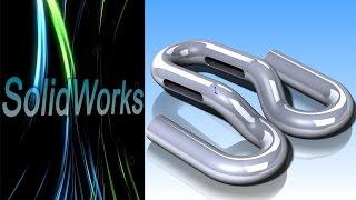 SolidWorks. 3D эскиз. Защёлка (Урок 8) / Уроки SolidWorks