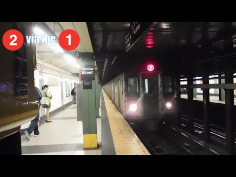 IRT Broadway-Seventh Ave Line: R142 (2) Train via the (1) Line Action @ Rector St