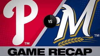 5/25/19: Phils launch 4 HRs to back Arrieta's gem