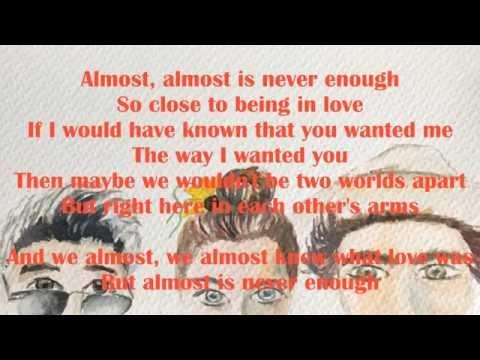 Vazquez Sounds -  Almost is Never Enough Lyrics