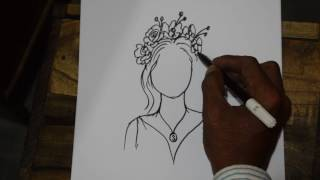 How To Draw Flower Girl