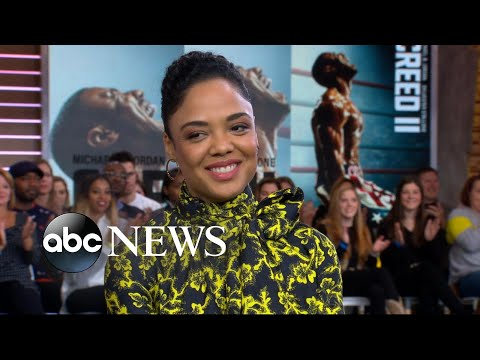Tessa Thompson shares secrets from behind...