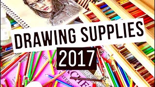 My FAVOURITE Drawing Supplies 2017! Coloured pencil edition