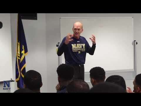 Rowdy Gaines Speaks To Navy Football