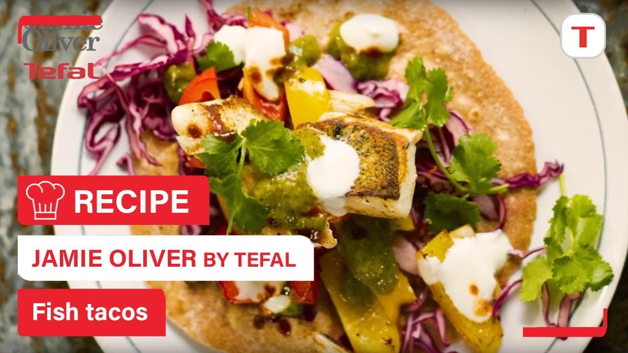 tasty fish tacos jamie oliver tefal hard anodised everyday range youtube. Black Bedroom Furniture Sets. Home Design Ideas