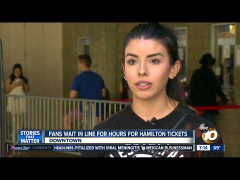 San Diego Fans Wait In Line For Hours For Hamilton Tickets