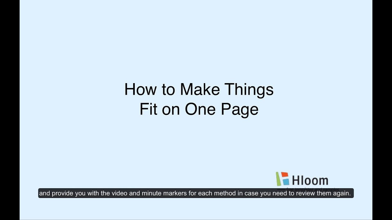 How To Make Resume Content Fit On One Page   YouTube  How To Make Resume One Page