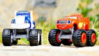Blaze e le mega macchine. Video divertente in italiano per bambini