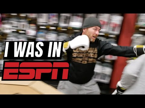 Sparring In Dick's Sporting Goods | Appearing In ESPN Magazine