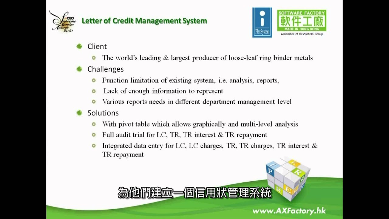 Various Collection  Letter Of Credit Management System  Youtube
