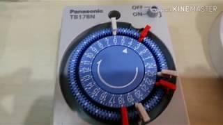 วิธีการต่อสายไฟสวิทช์ตั้งเวลาTimer เปิด, ปิดไฟอัตโนมัติPanasonic Video