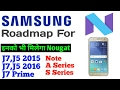 Android 7.0 Nougat update Roadmap For Samsung galaxy Smartphones [Hindi]