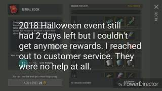 Last Day On Earth Halloween Ritual Book complaint review of customer service or lack of