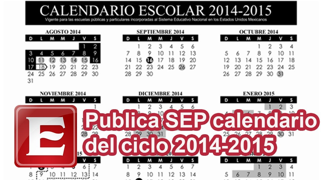 Publica SEP calendario escolar 2014-2015 - YouTube