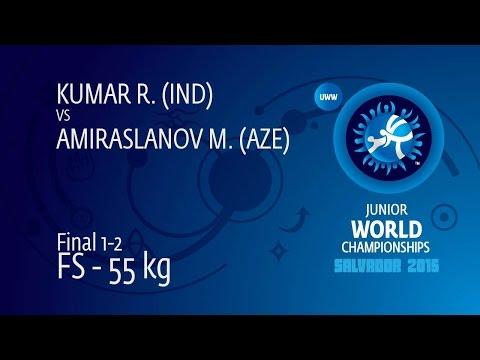 GOLD FS - 55 Kg: M. AMIRASLANOV (AZE) Df. R. KUMAR (IND) By TF, 10-0