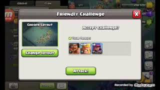 Coc who will come out from the maze? Troll base challenge