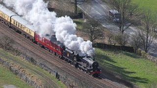 45690 storms up the Settle & Carlisle; The Cumbrian Jubilee 21-03-2015
