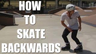 How to skate backwards, skating backwards with Brian Aragon