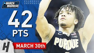 Carsen Edwards Full Highlights Purdue vs Virginia 2019.03.30 - 42 Pts, 10 Threes, SICK! Video