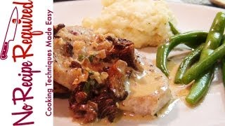 Veal Scallopini With Mushroom Cream Sauce - Noreciperequired.com