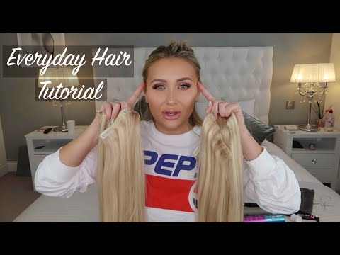 EVERYDAY HAIR TUTORIAL   BEAUTY WORKS CLIP IN EXTENSIONS