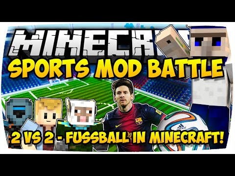 MINECRAFT: EPISCHES FUSSBALL BATTLE! ★ SPORTS MOD (2v2) ♦ MODDED MINI-GAME | [Deutsch // HD]