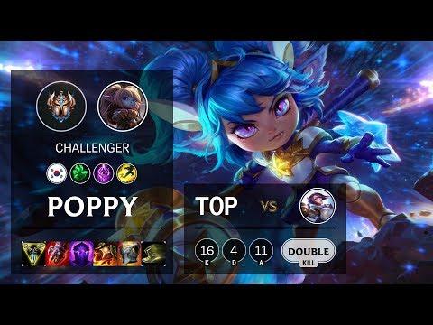 Poppy Top vs Fiora - KR Challenger Patch 10.4