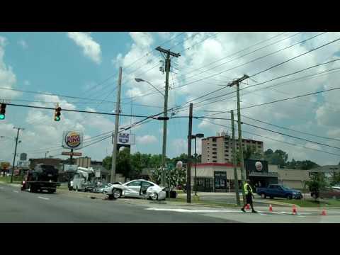 Traffic accident on Bragg Boulevard Fayetteville North Carolina