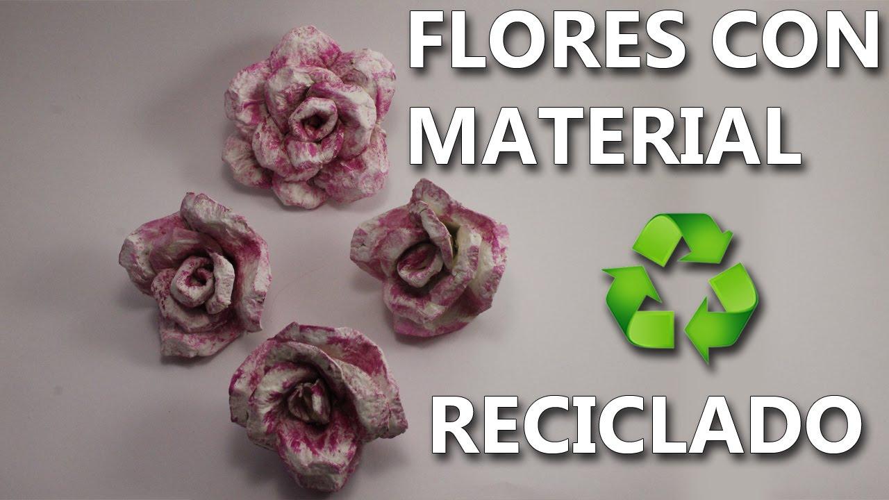 Flores De Carton De Huevo Manualidades Con Reciclaje Faciles De