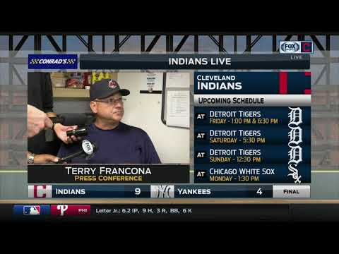 Terry Francona commends his