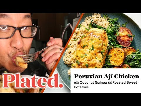 WHAT'S COOKIN' -  Peruvian Ají Chicken PLATED