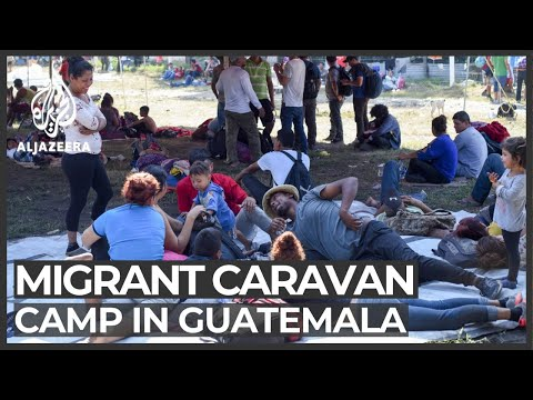 Migrant group camps