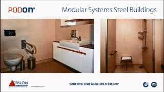 OPALON préfabriqués conteneurs Steel Structure modulaire Wc Douche Édifice PODON