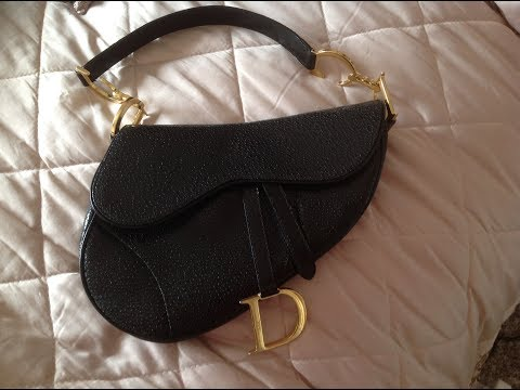 What fits inside a vintage Christian dior saddle bag & double saddle handbag  great comparison