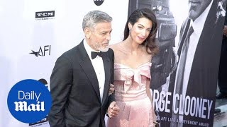 George Clooney & Amal Clooney at the AFI Life Achievement Award