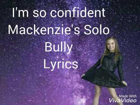 Dance moms-Bully-Lyrics