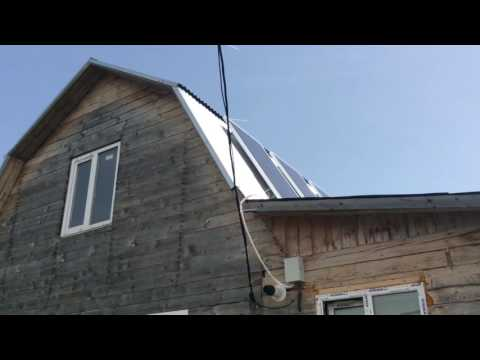 видео: Автономное электроснабжение дома. Солнечные батареи.