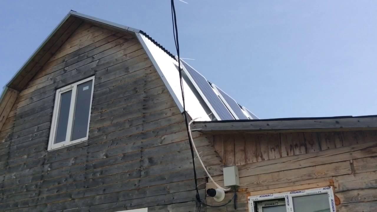 Автономное электроснабжение дома. Солнечные батареи.