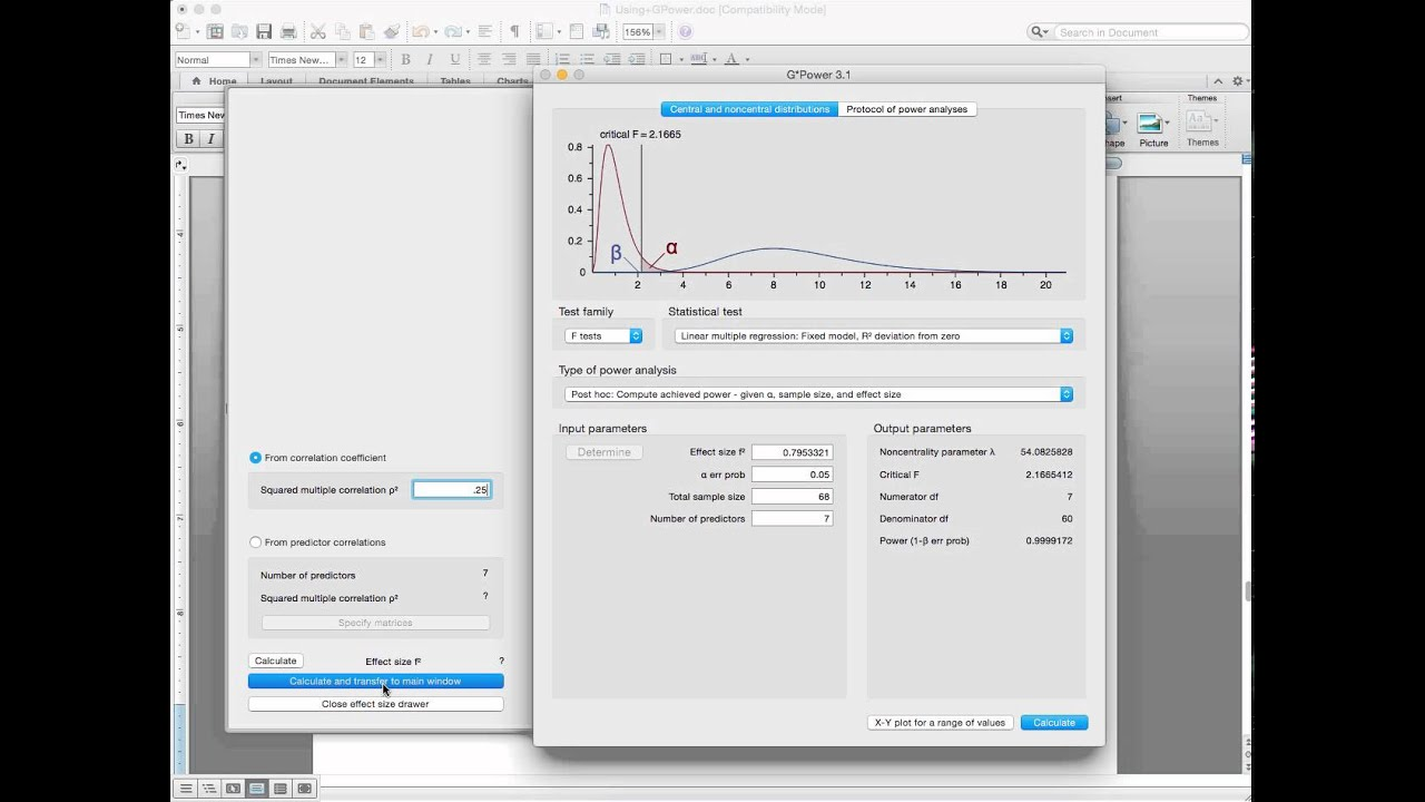 Gpower Multiple Regression - YouTube