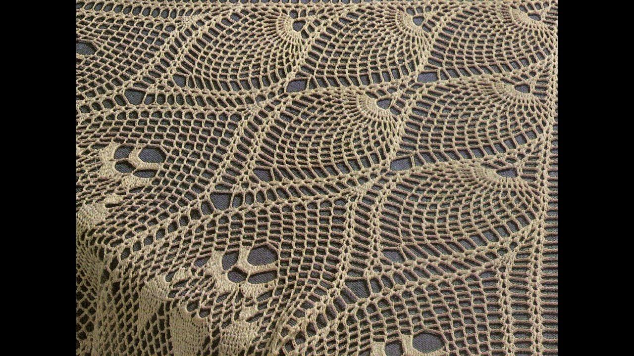 Mantel redondo a crochet para expertas youtube - Mantel de crochet ...