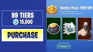 BUYING EVERY SEASON 5 BATTLE PASS TIER IN FORTNITE!