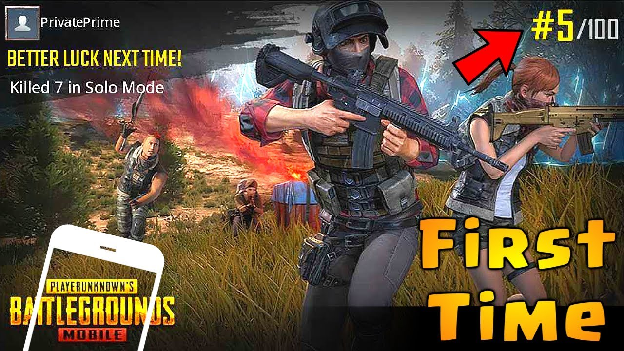 Pubg Mobile English Version: FIRST TIME Playing PUBG MOBILE