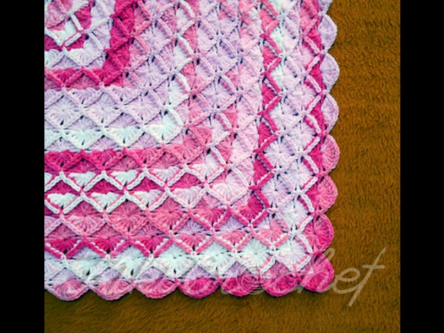 Crochet Bavarian Stitch Blanket Rectangular Youtube