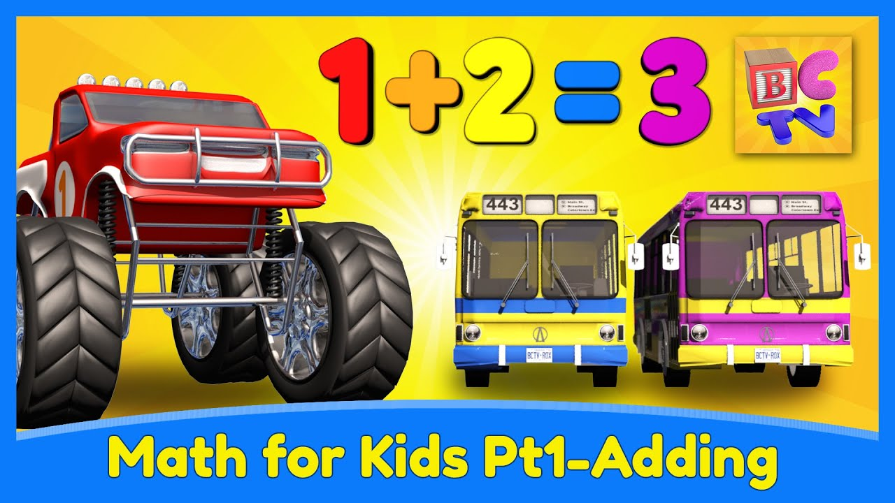 Learn Math for Kids | Adding with Monster Trucks by Brain Candy TV ...