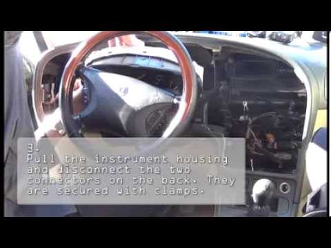 (SAAB 9-5) Disassembly/reassembly Of Instrument Panel, Replacement Lamps Instrument Housing