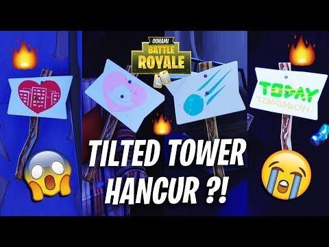 FORTNITE MALAYSIA - Adakah ''TILTED TOWER'' bakal Musnah! dengan METEOR?!- #ROADTO100K