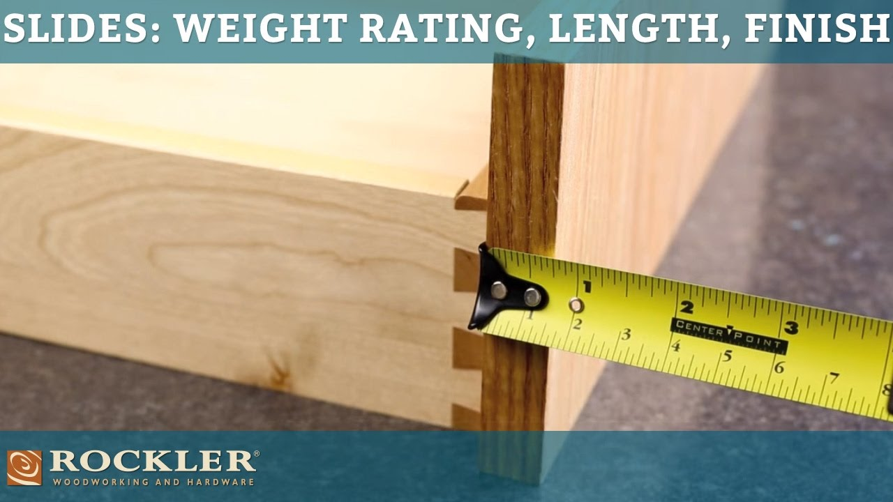 Drawer Slide Tutorial Weight Rating Length And Finish Options Youtube