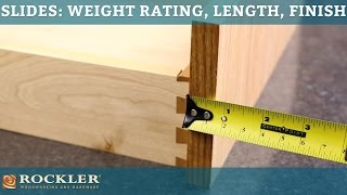 Drawer Slide Tutorial: Weight Rating, Length, and Finish Options