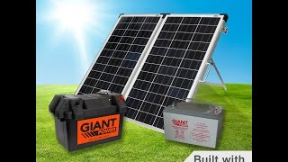 Portable solar kit. Not just for camping